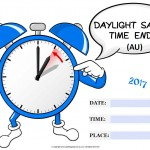 Daylight Savings Ends (AU) - 2017 - fillable