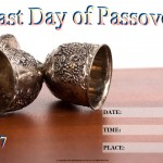 Last Day of Passover - 2017 - fillable
