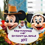Opening of Disneyland - 2017 - fillable