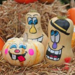Painted-Squash-Faces-pumpkin-and-butternut