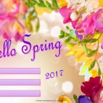 Hello Spring - 2017 - fillable