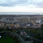 Aerial view of Edinburgh, Scotland