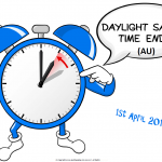 Daylight Savings Ends (AU) - 2018