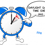 Daylight Savings Ends (AU) - 2018 - no date