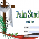 Palm Sunday - 2018 - fillable