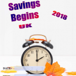 Uk Daylight Savings - 2018 - fillable