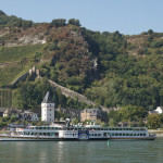 River cruise ship on the Rhine River