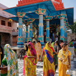 Indian people at a hindu temple