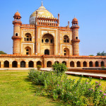 Tomb of Safdarjung in New Delhi, India. It was built in 1754 in the late Mughal Empire style.