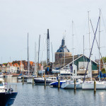 Marina in Holland town. Enkhuizen, the Netherlands