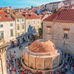 Onophrian Fountain in the old town of Dubrovnik, Croatia.