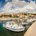 SUMARTIN, CROATIA - A picturesque ferry port on the island of Brac.