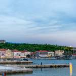 Sunset at Adriatic Coast, Senj, Istria, Croatia