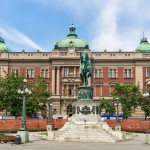 The National Museum in Belgrade. It is located in the main Republic Square in Belgrade.
