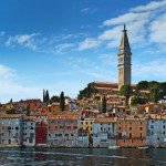View of the city from the sea, Rovinj, Istria, Croatia