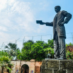 City of Manila, a statue of Jose Rizal holding a book