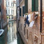 Typical canal of Venice