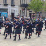 Dundee, Scotland - Bagpipe band