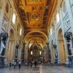 Rome, Italy, internal view of the Basilica of San Giovanni in Laterano, one the five papal basilicas