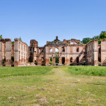 Ruins of the baroque palace in Kamieniec - Poland