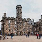 The Crown Square comprised of Scottish National War Memorial, Royal Palace, Great Hall, and Queen Anne Building inside Edinburgh Castle, Scotland