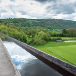 Pontcysyllte Aqueduct carrying the Llangollen canal near Wrexham, North Wales.