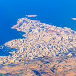 Aerial view of Bugibba, Malta