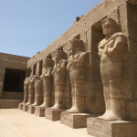 Ancient city of Karnak or Luxor, famous for it's beautiful ruins and old palaces.