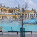 Hungary - Szechenyi thermal baths in Budapest. The Szechenyi Bath is the largest medicinal bath in Europe