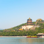 Beijing Summer Palace scenery, Buddha House in the summer morning