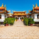 Buu Son Buddhist Temple near the Poshanu or Po Sahu Inu Cham Tower in Phan Thiet city in Vietnam