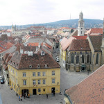 Cityscape of charming town Sopron, Western Hungary