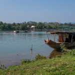 The Huong (Perfume River) was named for the tropical scent it brought down from the mountains. Hue, Vietnam