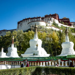 Lhasa, Tibet, China-Views of the Potala Palace, former residence of the Dalai Lama