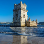 Lisbon, Portugal, View of the Belem tower at the bank of Tejo River