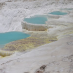 Pamukkale, meaning (cotton castle) in Turkish, is a natural site in Denizli in southwestern Turkey.
