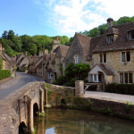 Picturesque bridge in Castle Combe, Cotswolds, Wiltshire, the prettiest village in England