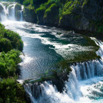 Strbacki buk, the waterfall of the Una River that forms the natural border between Croatia and Bosnia.