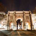 The Marble Arch, designed in 1825 by John Nash, completed in 1833, located in central London