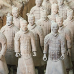 The Terracotta Army warriors at the tomb of China's First Emperor in Xian. Unesco World Heritage site