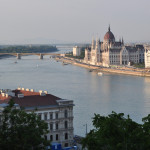View of city of Budapest with river Danube