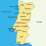 Map of the Portugal