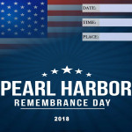 Pearl Harbour Remembrance Day - 2018 - fillable