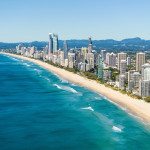 Aerial view of Surfers Paradise, Gold Coast, Queensland