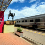 Alice Springs, NT, Australia - The Ghan railway in train station of Alice Springs