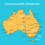 Australian Map with cities