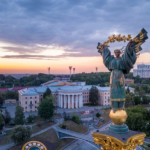 Monument of Independence of Ukraine in Kiev. Historical sights of Ukraine