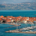 Town Izola at the coast of Adriatic sea, Slovenia
