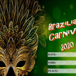 Event Poster - Brazilian Carnival - 2020- fillable