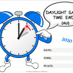 Event Poster -Daylight Savings Ends (AU) - 2020 - fillable